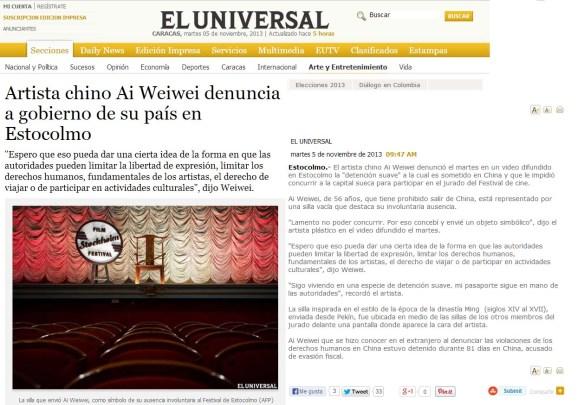El Universal Ai Weiwei